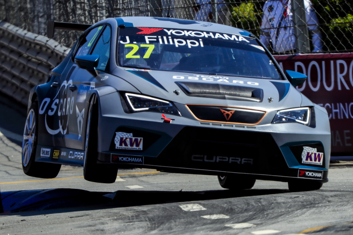 27 FILIPPI John, (fra), Seat Cupra TCR team Oscaro by Campos Racing, action, during the 2018 FIA WTCR World Touring Car cup of Portugal, Vila Real from june 22 to 24 - Photo Paulo Maria / DPPI
